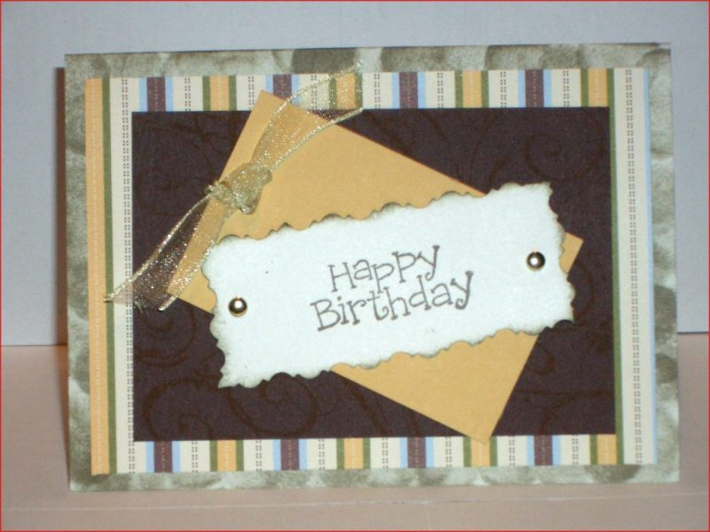 stampin up handmade happy birthday greeting card masculine