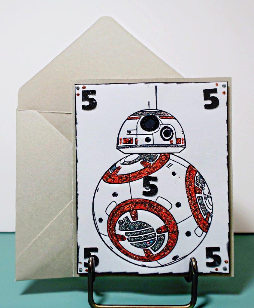 star wars bb8 birthday card gagegirl