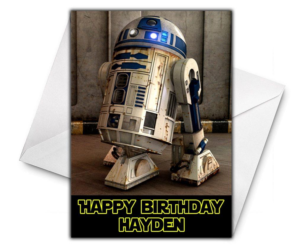 star wars r2d2 personalised birthday card large size a5 personalized birthday card star wars greetings birthday cards r2d2 birthday