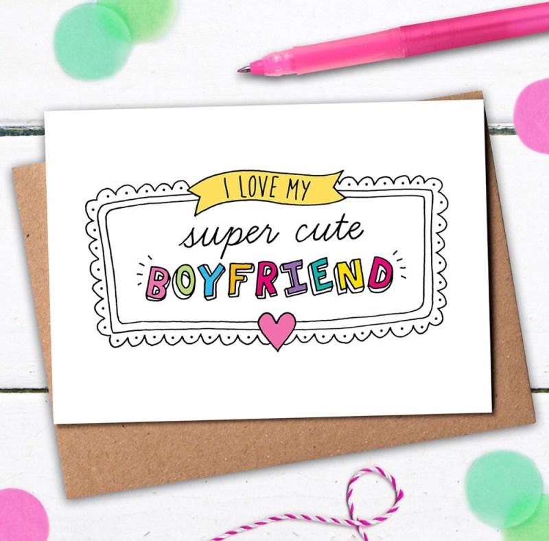 super cute boyfriend card