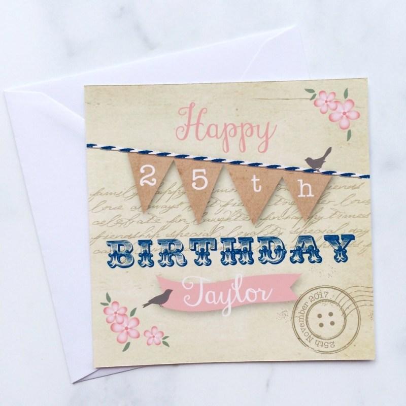 vintage style birthday card