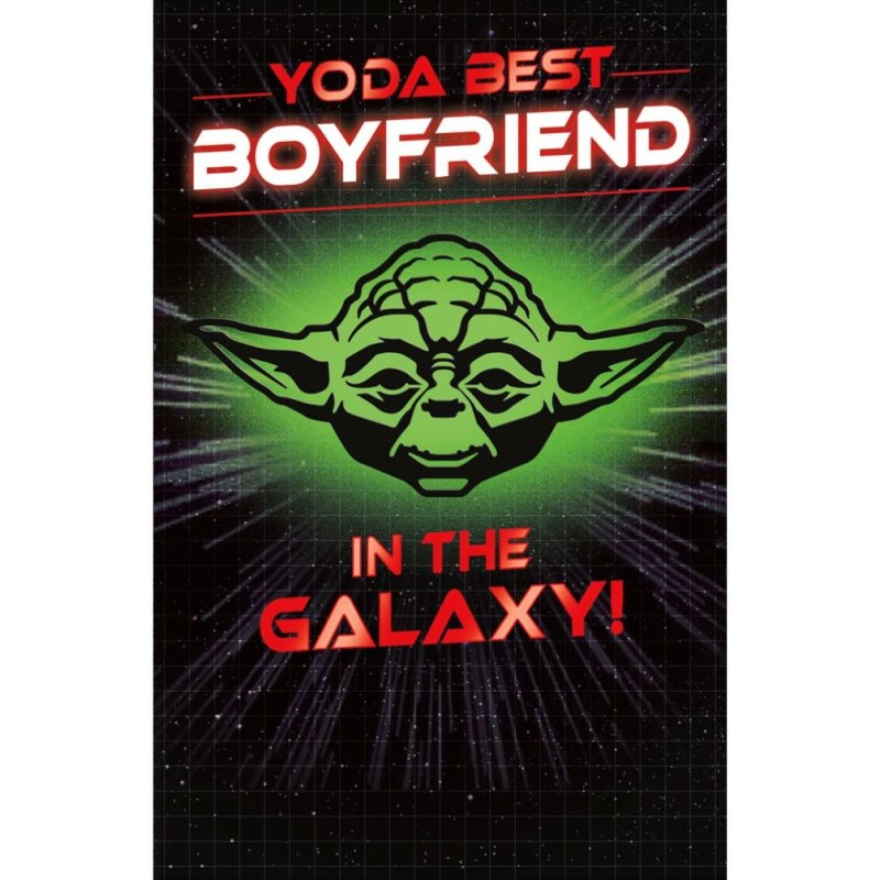 yoda best boyfriend star wars birthday card