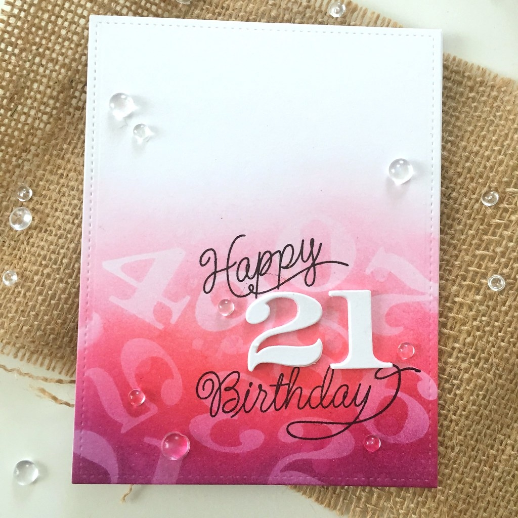 21st birthday card freshwater studio20170608happy