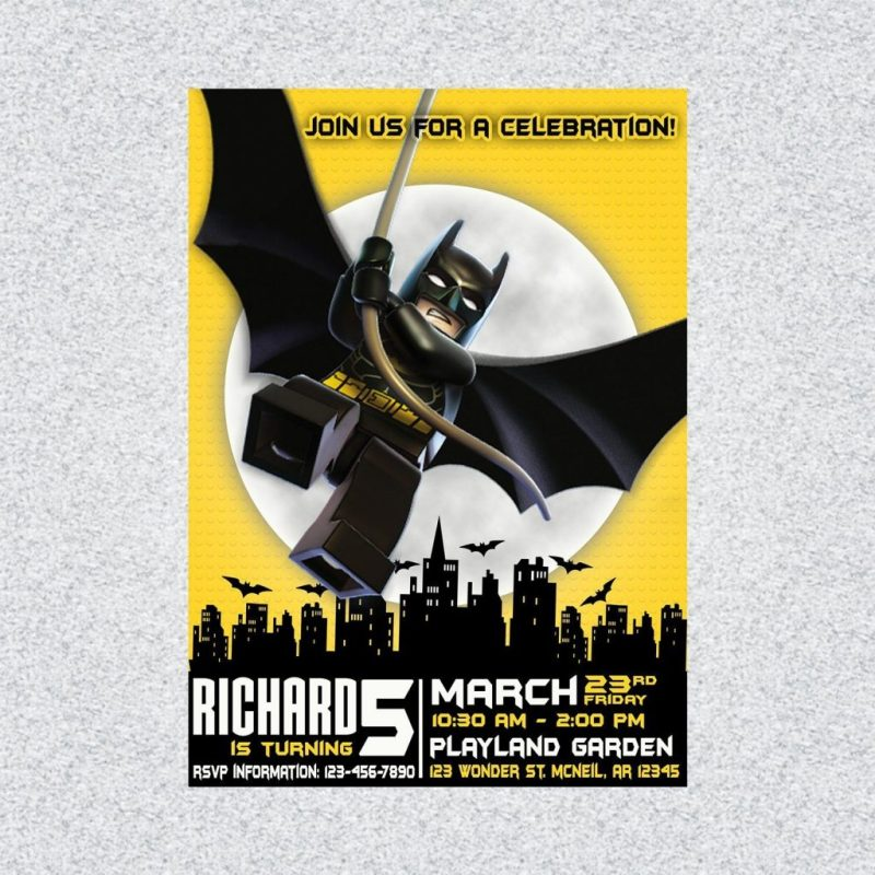 batman birthday invitation batman printable invitation