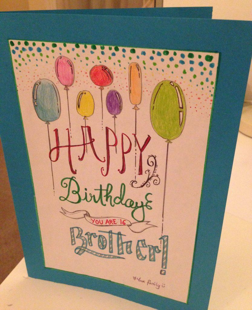 birthday card for brother jeyni birthday card