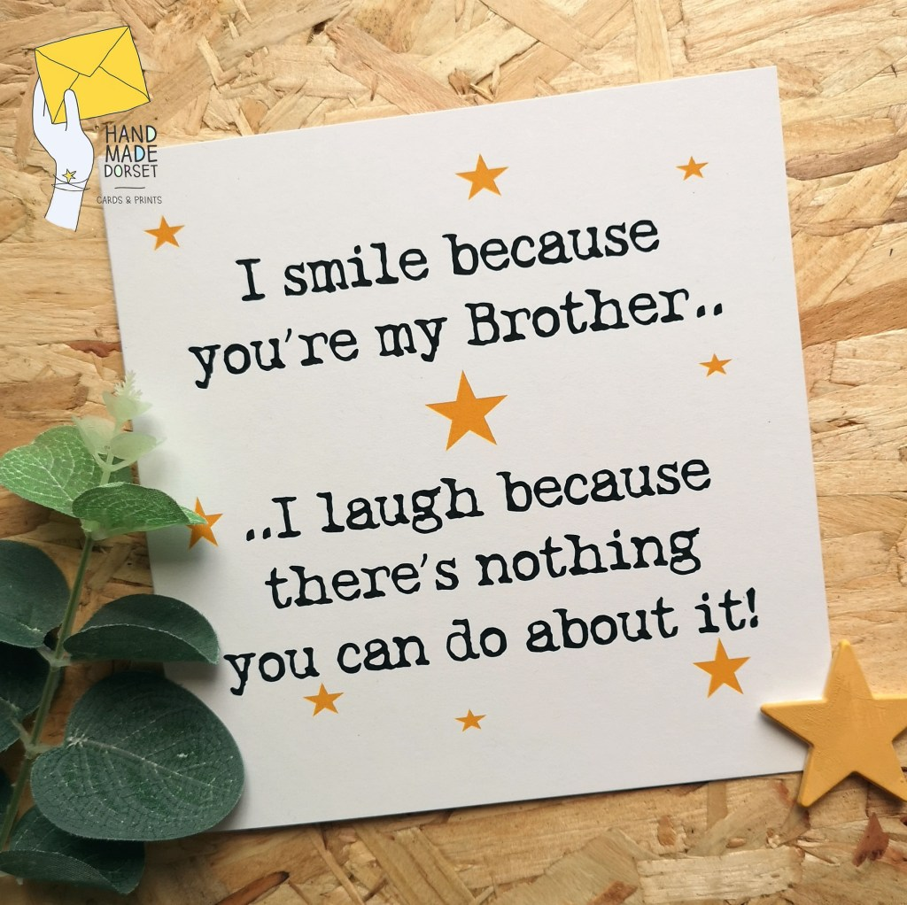 brother cardcard for brotherbirthday cardbrothers birthday cardbirthday card brotherspecial brotherfunny brother cardrecycled card