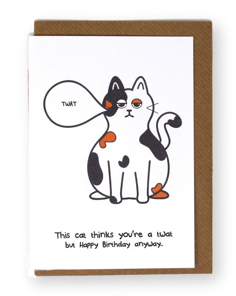 cat birthday card cards stationery home furniture diy