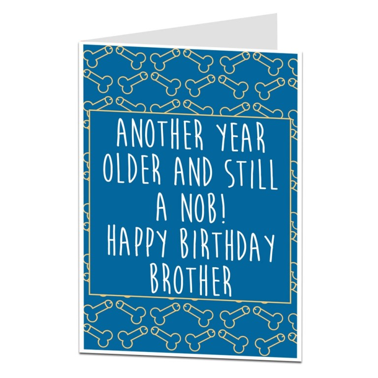 details about funny rude offensive birthday card for brother perfect for 21st 30th 40th