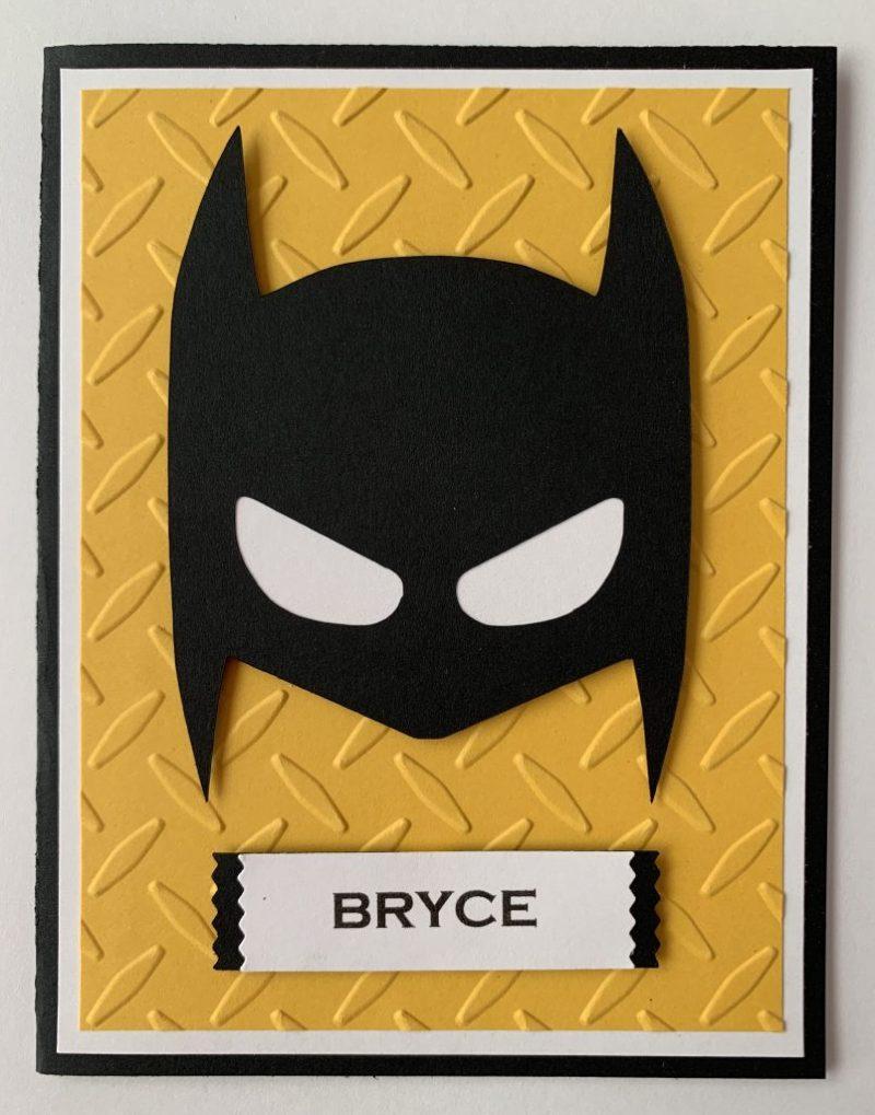 handmade personalized batman birthday card boy or girl