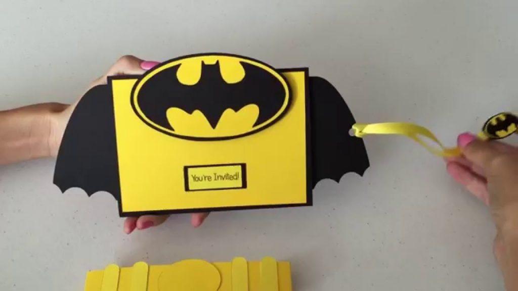 interactive batman 3d invitation