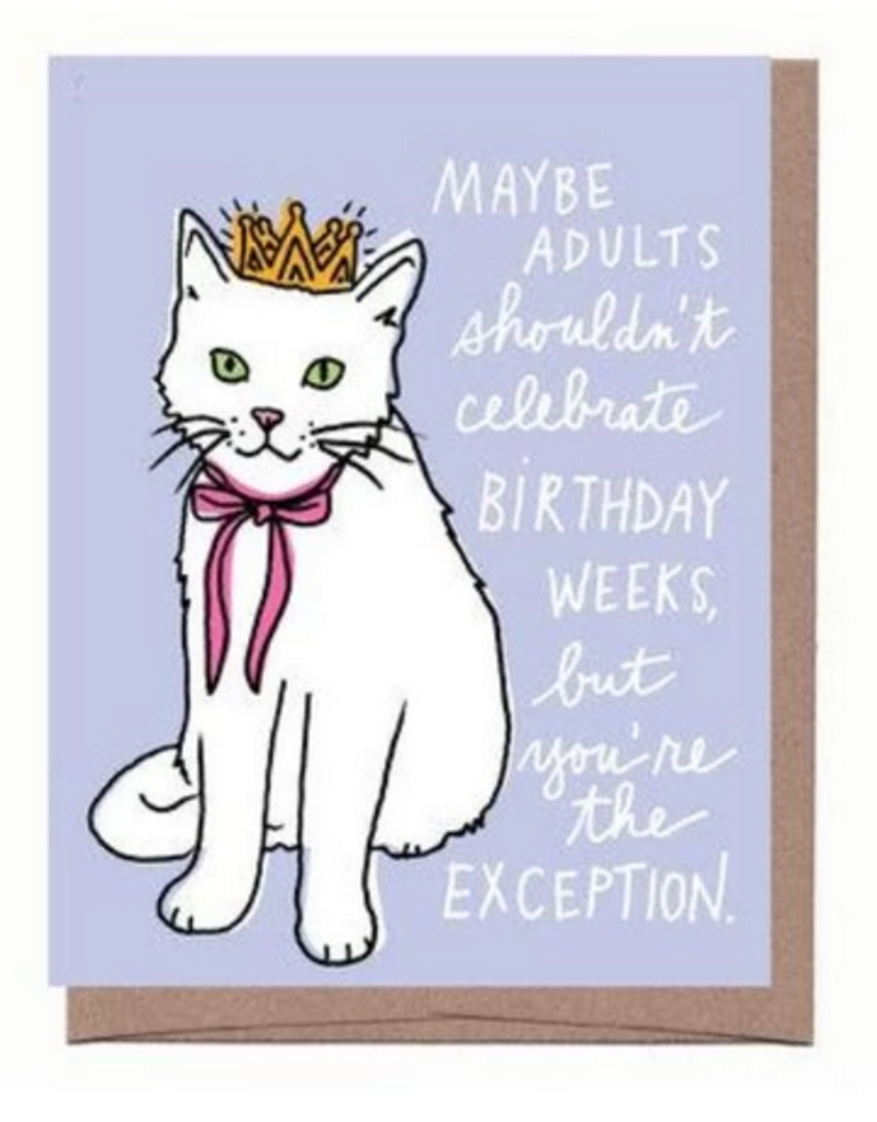 la familia green birthday week cat birthday card