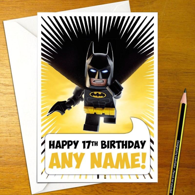 lego batman movie personalised birthday card a5 robin joker batgirl gotham boy