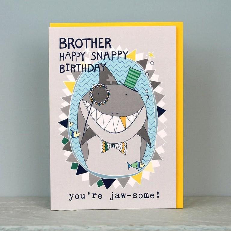 shark brother birthday card