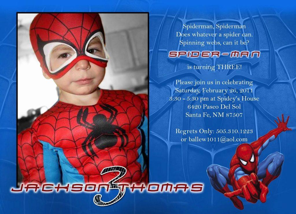 spiderman birthday invitation template lovely spiderman
