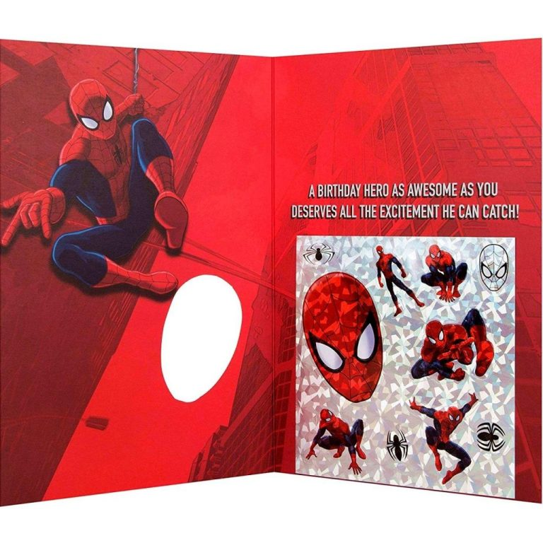 to an amazing son spiderman birthday card