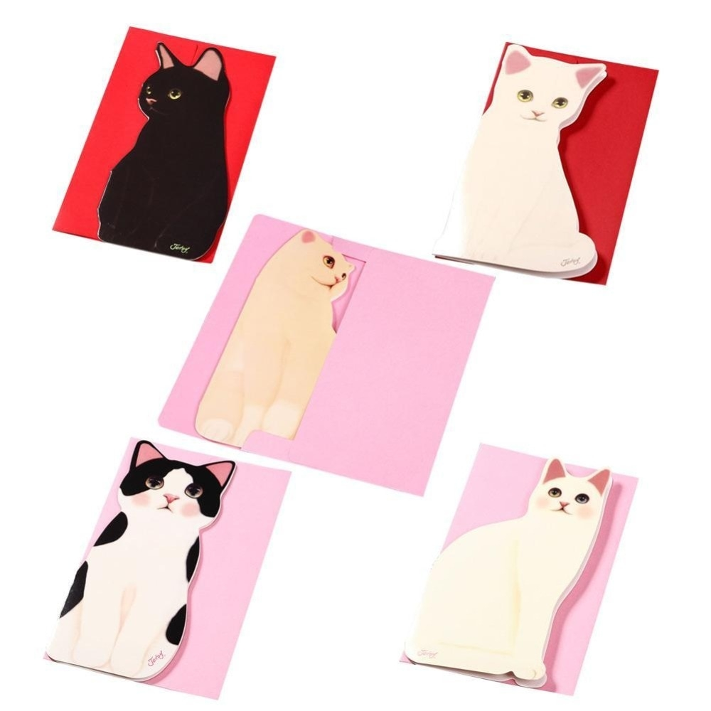 us 127 38 offfolding greeting card high quality cute cat birthday christmas cards envelope writing paper stationery gifts wholesale price in cards