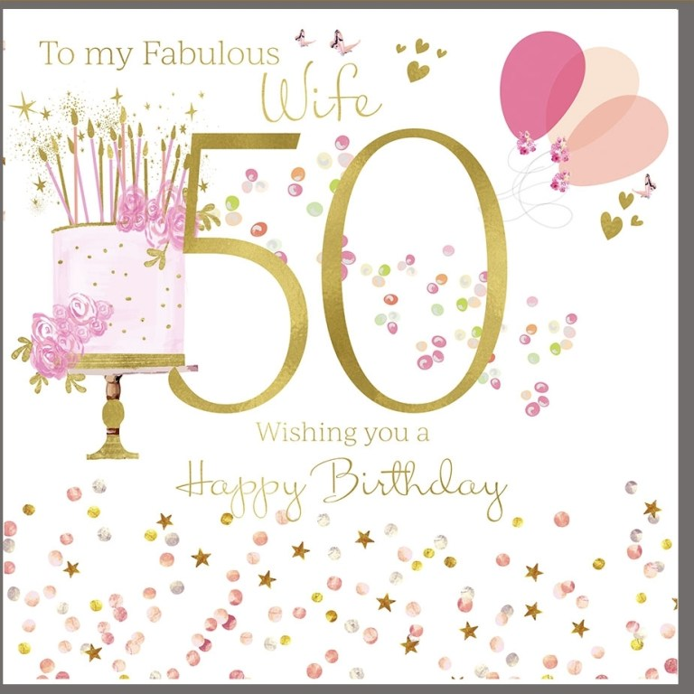 50th birthday card for a fabulous wife