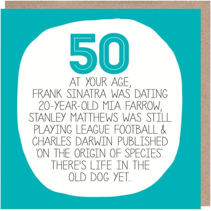 50th birthday card your age