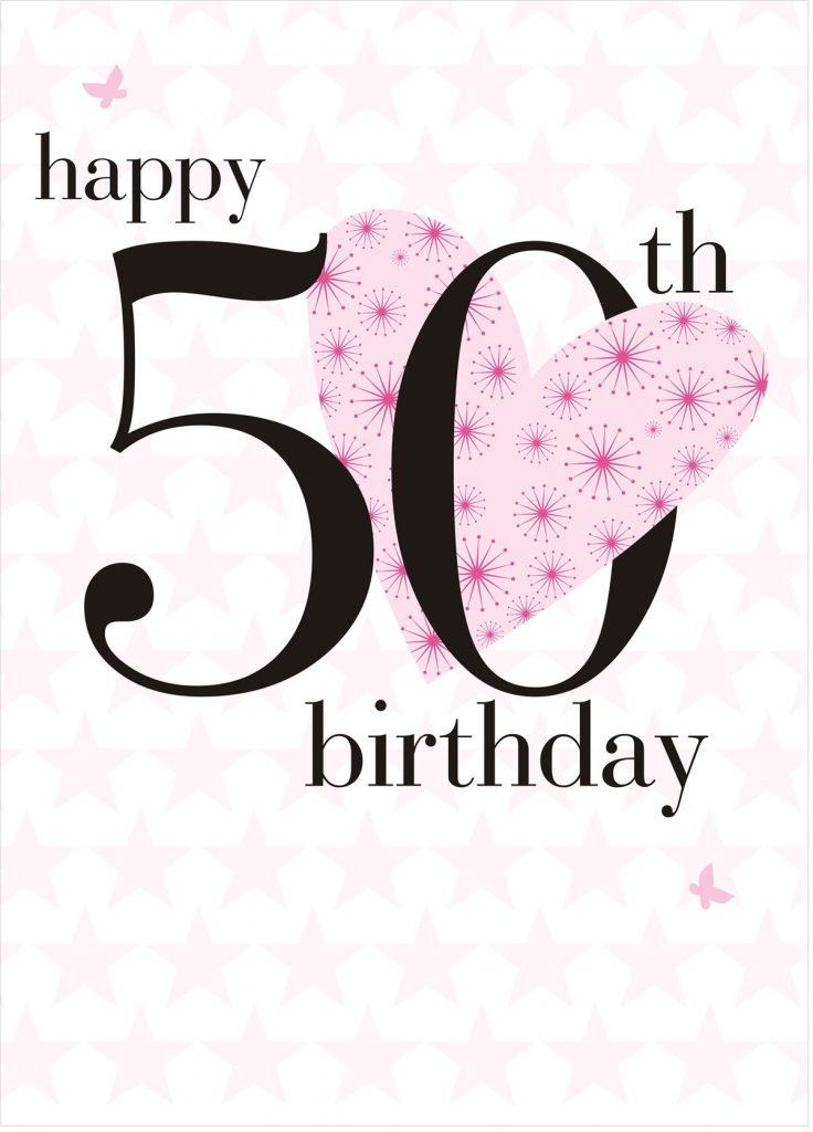 50th birthday heart