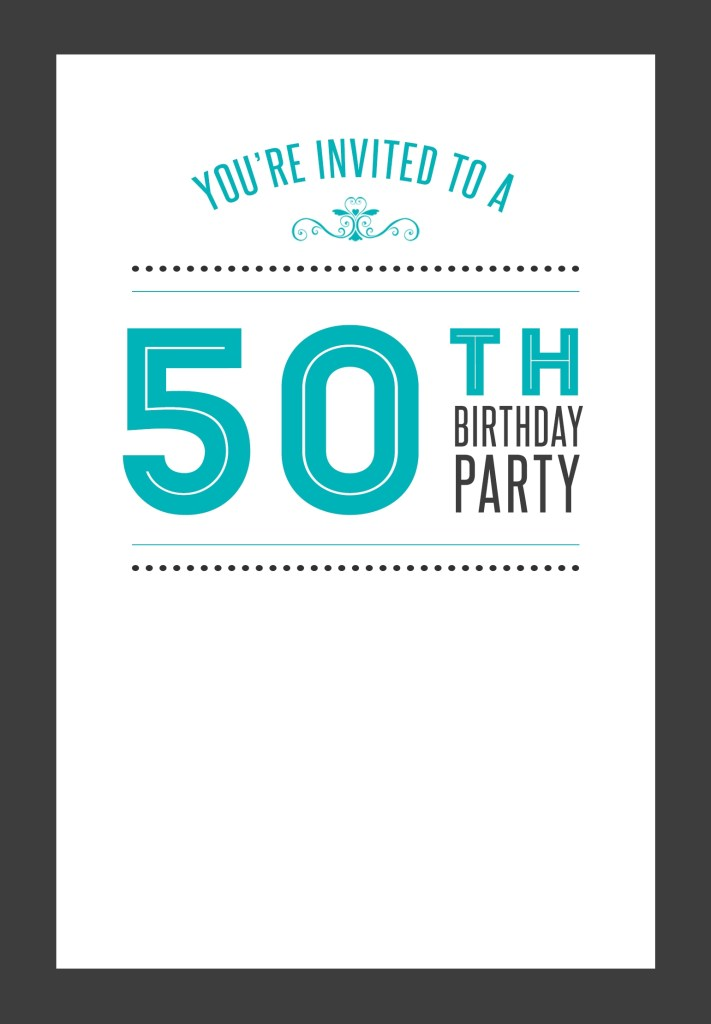 95 adding 50th birthday card template free photo for 50th