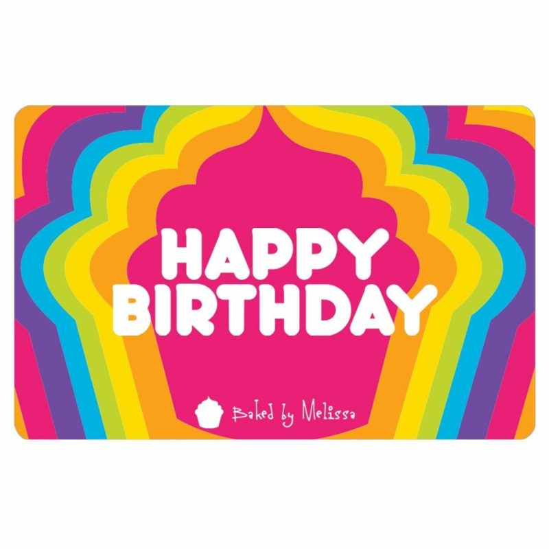baked melissa gift card happy birthday baked melissa