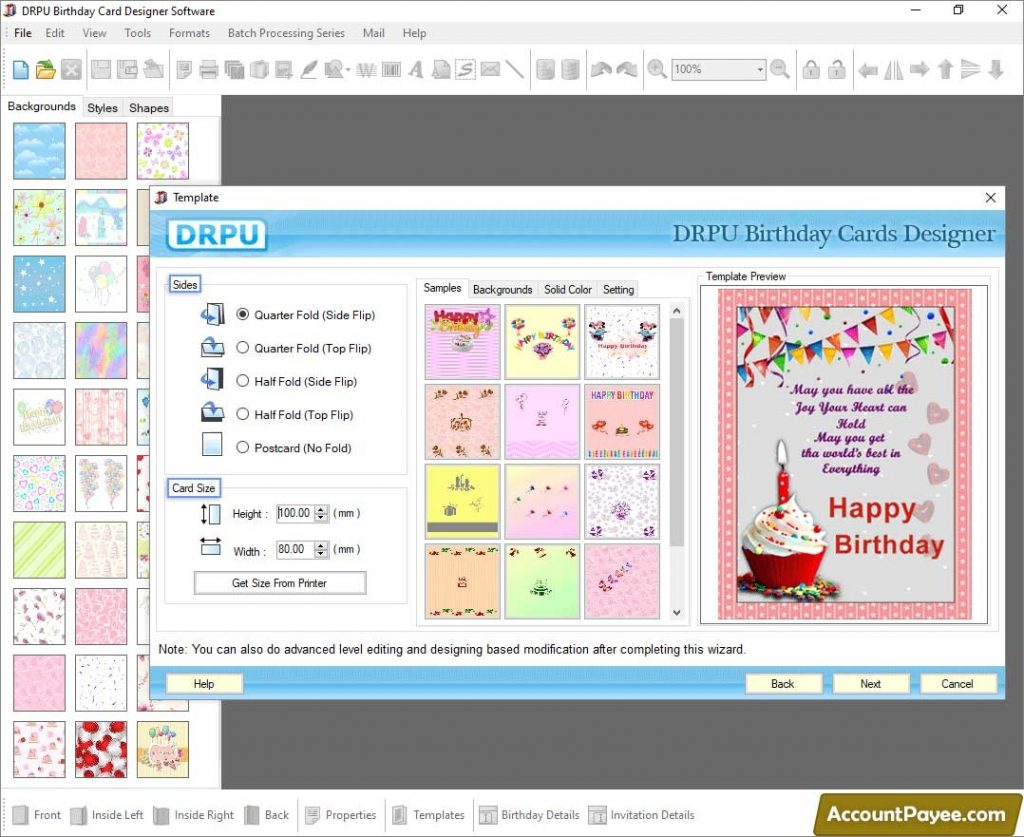 birthday card maker design colorful funny happy birth day