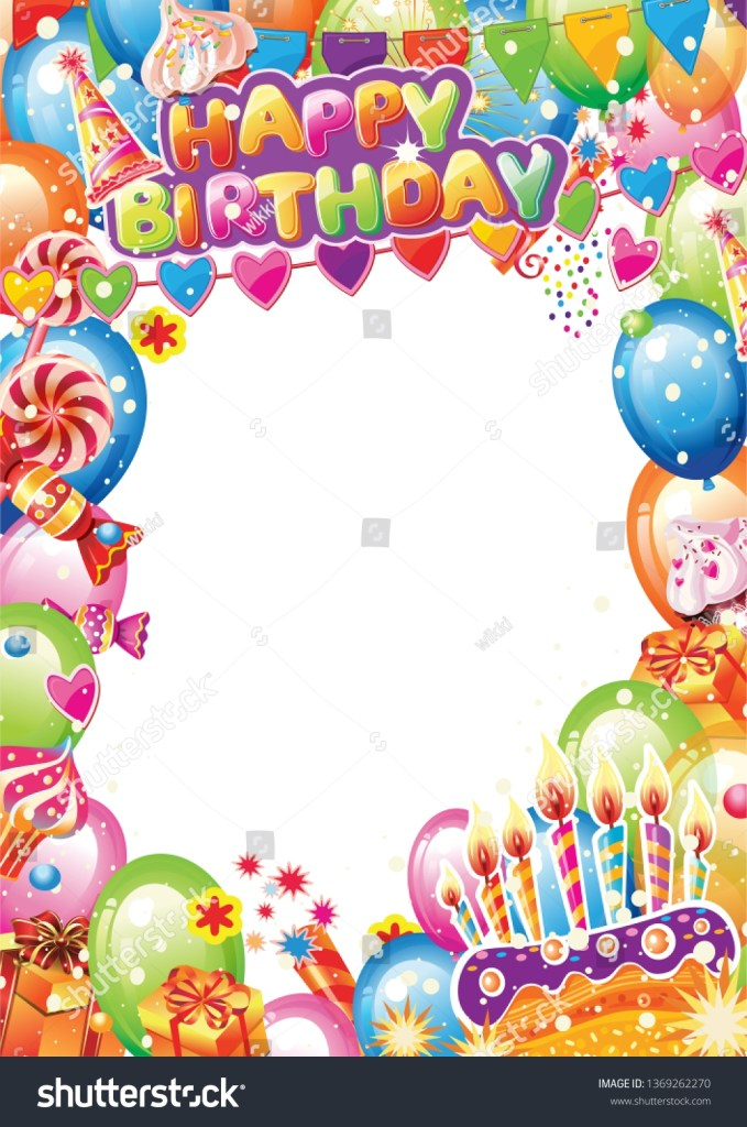 birthday card place text stock vector royalty free 1369262270