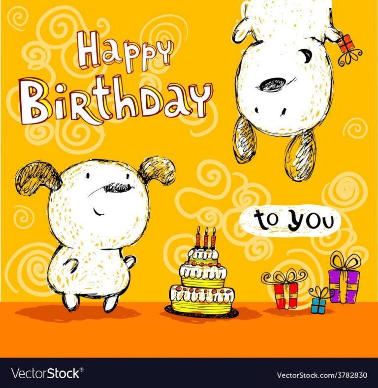 birthday card to friends