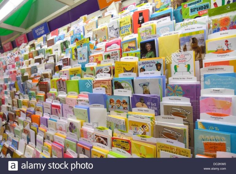 birthday cards shop stock photos birthday cards shop stock