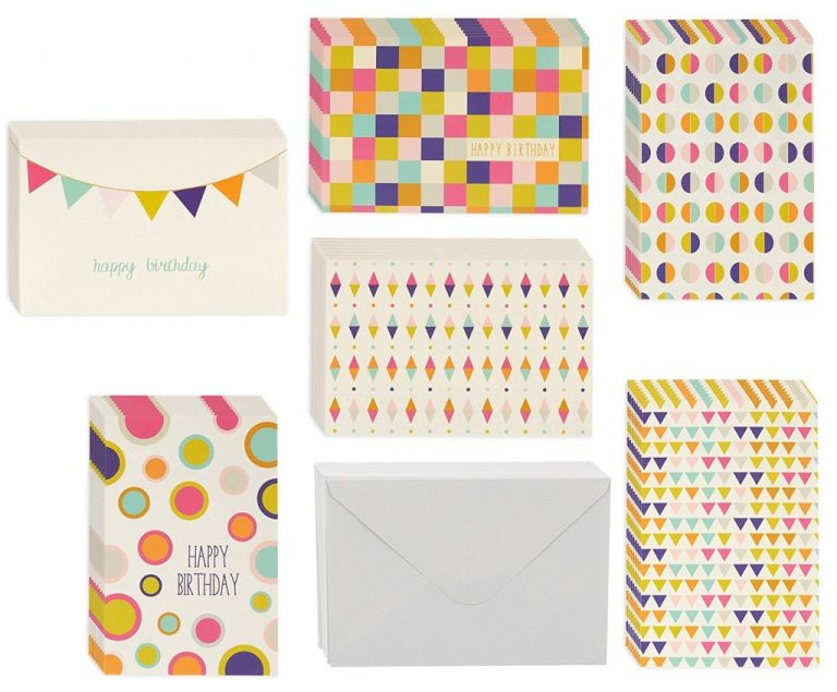 buy birthday card 48 pack birthday cards box set 6