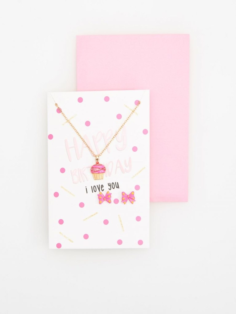 buy online birthday card with earrings and necklace reserved tj727 30x
