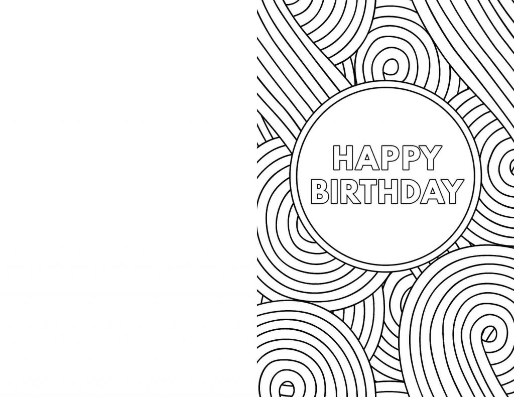 coloring happy birthday cardg pages for kids to print