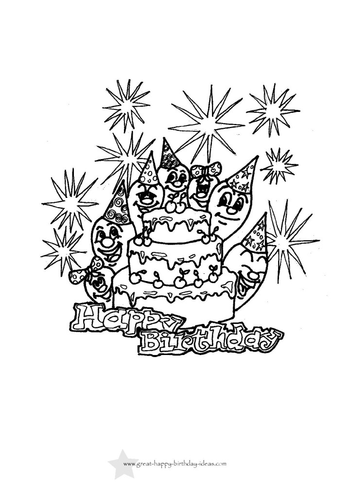 coloring pages coloring ideas printable birthday