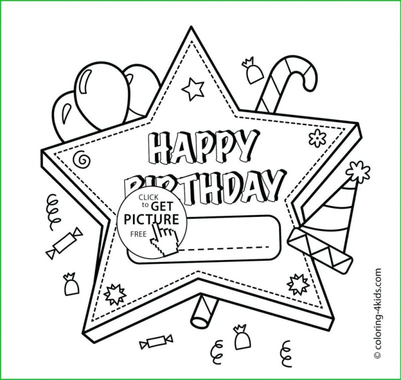 coloring pages most first coloring printable birthday