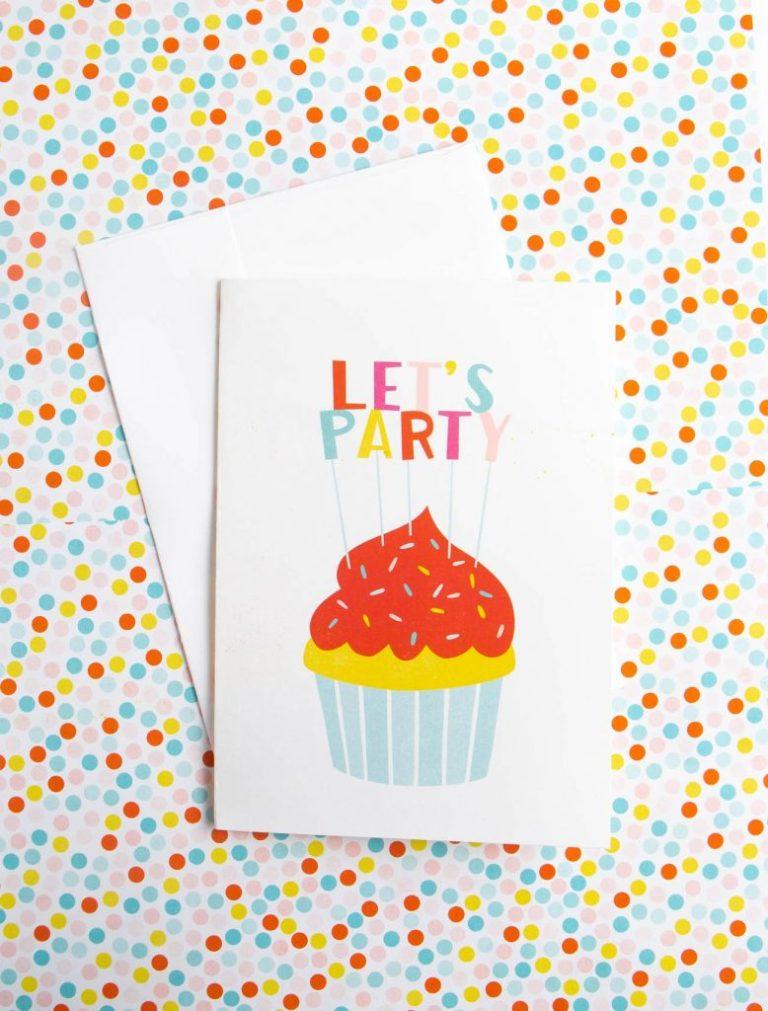 cupcake printable birthday card design eat repeat