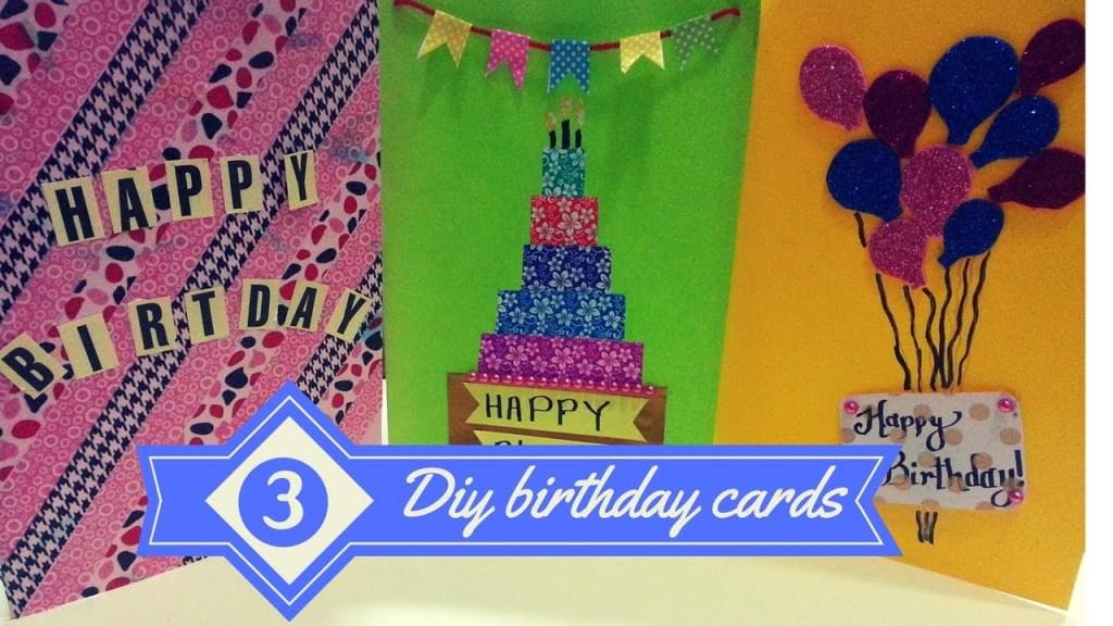 diy 3 best greeting cards for birthdays birthday cards for best friends greeting cards
