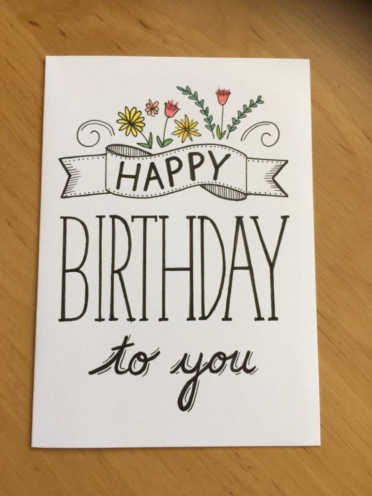 easy happy birthday mom card drawings