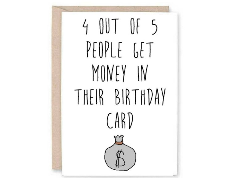 funny happy birthday card funny birthday card money birthday card unique birthday card adult birthday card no gift card funny card
