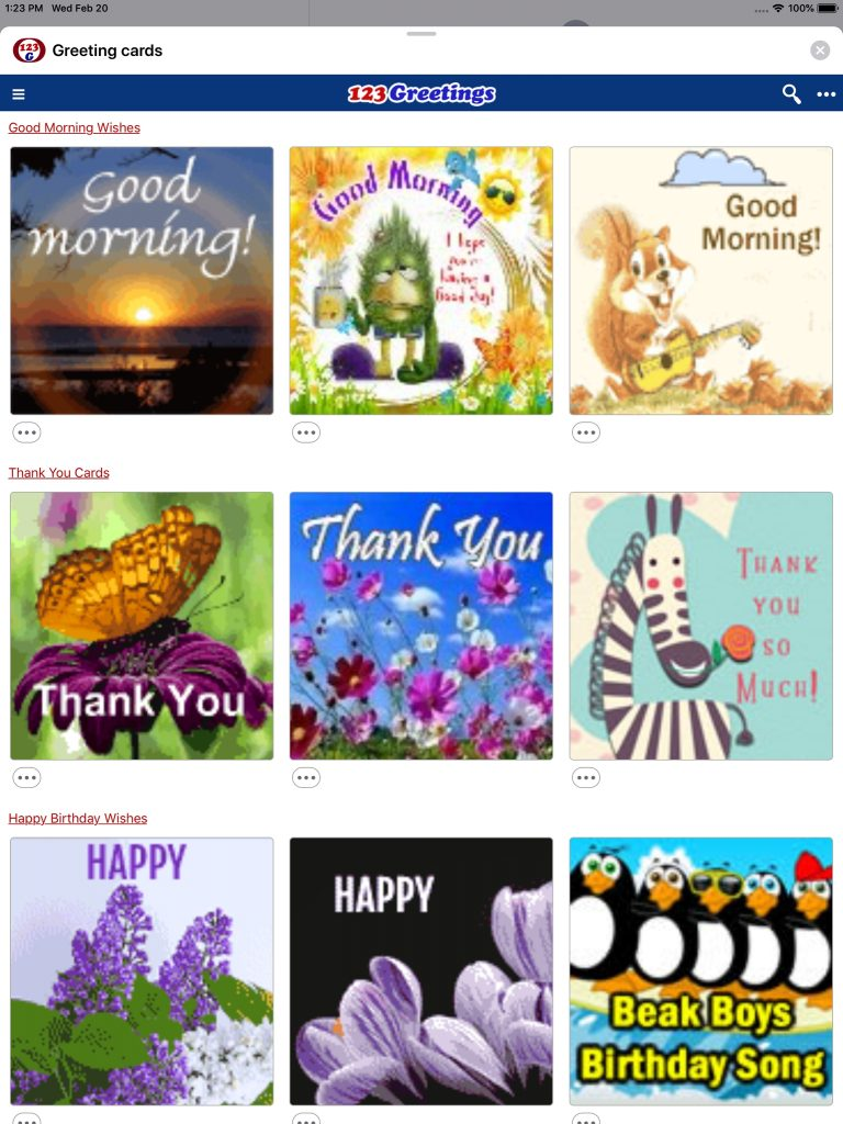 greeting cards wishes revenue download estimates