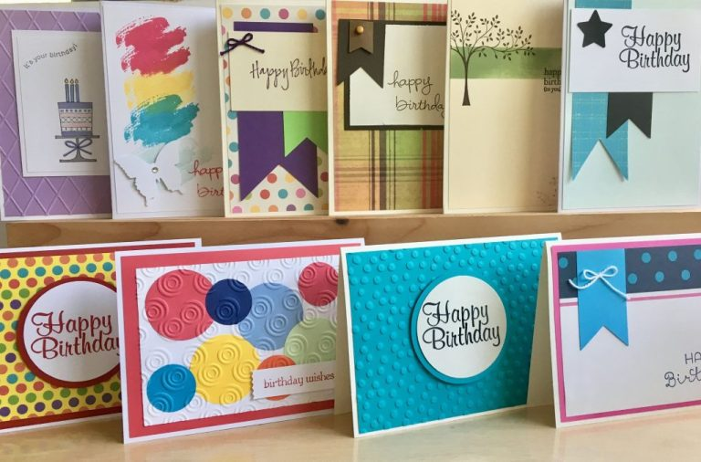 handmade birthday card set assortment of happy birthday