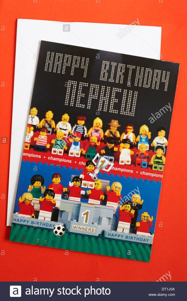 happy birthday nephew lego birthday card from marks