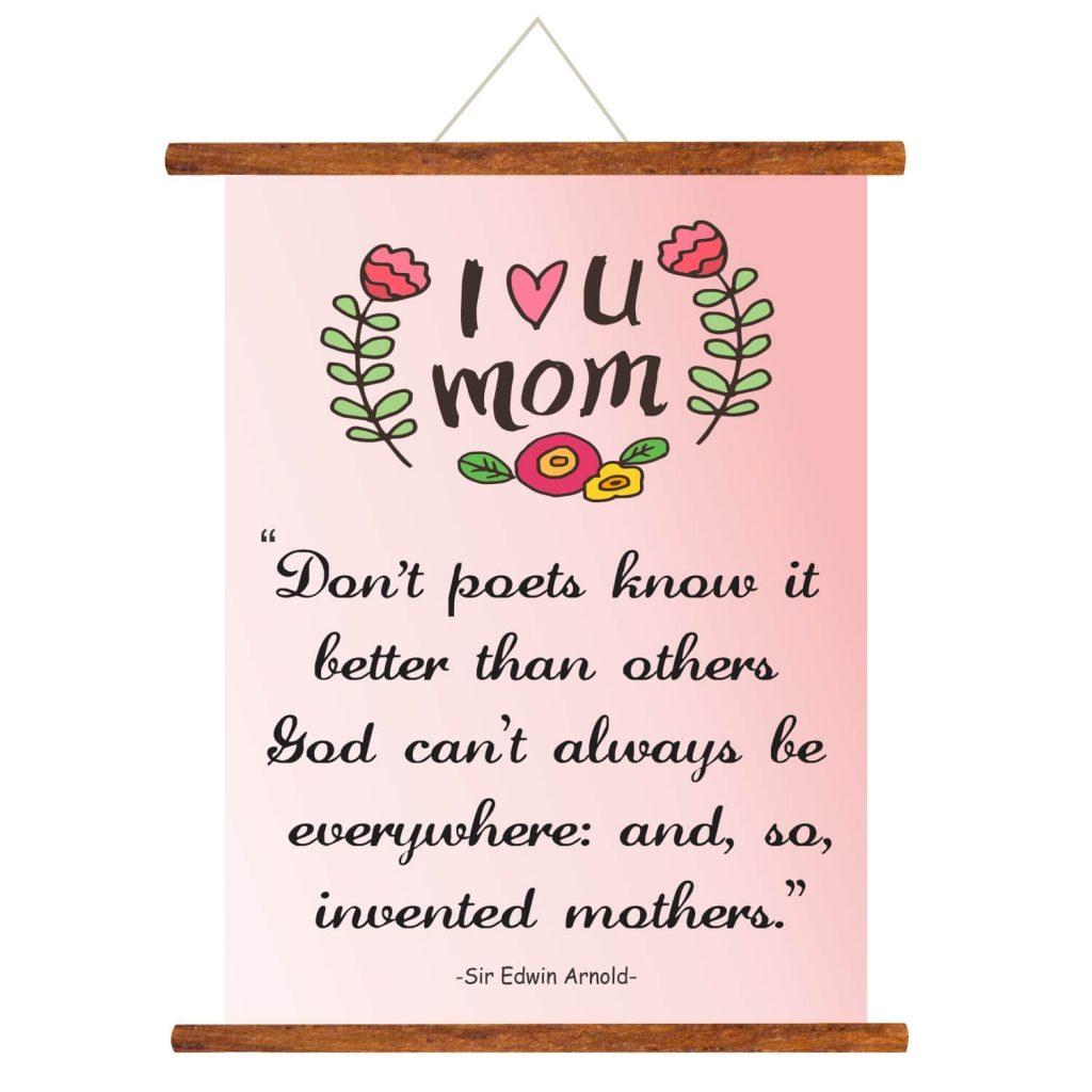 i love you mom scroll greeting card