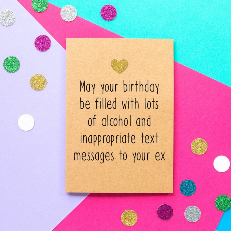 inappropriate text messages funny birthday card