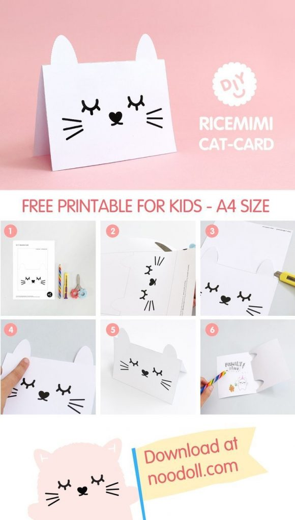 make your own ricemimi greeting card with this fun diy