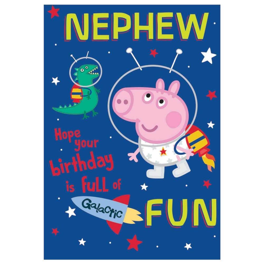 nephew peppa pig birthday card