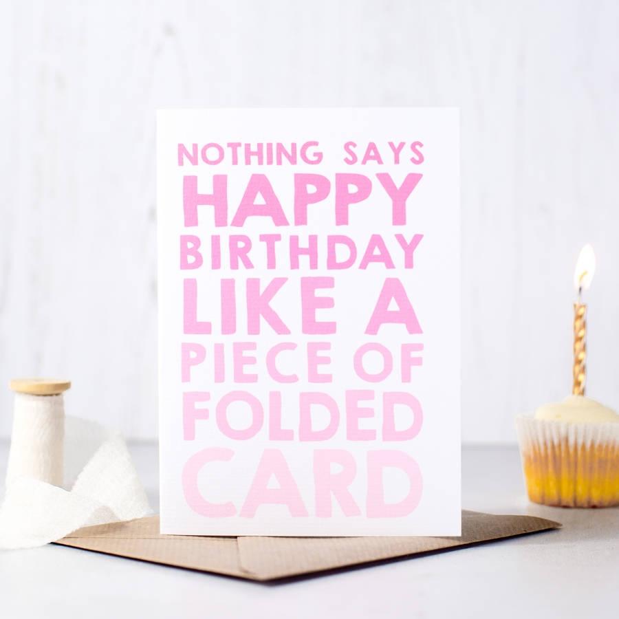 nothing says happy birthday funny birthday card