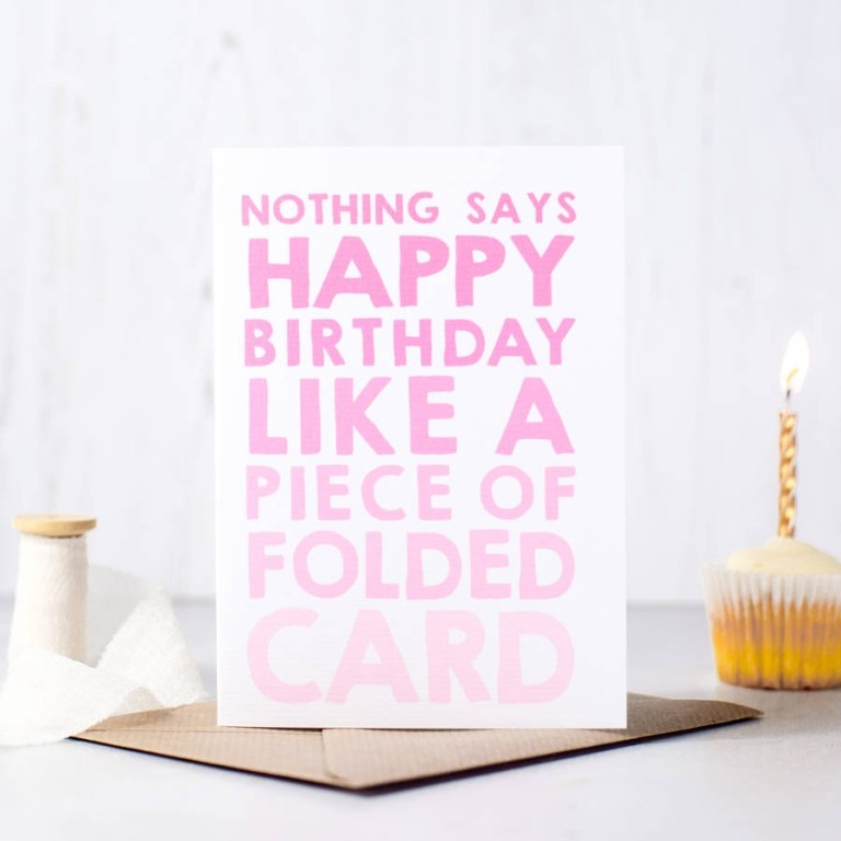 nothing says happy birthday funny birthday card