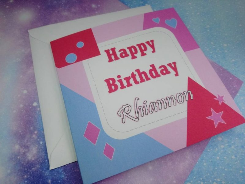 personalised happy birthday card name cards handmade birthday card pink birthday cards for her daughter card greeting cards