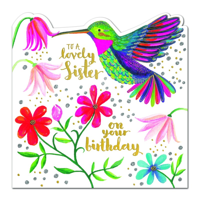 rachel ellen happy birthday sister card hummingbird spir11