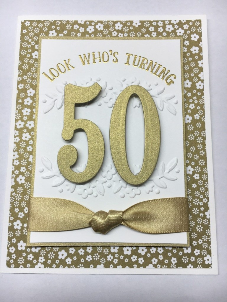 stampin up number of years 50th birthday card idea jeanie